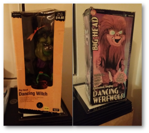 Halloween Decor: Musical Figurines - Witch and Wolfman